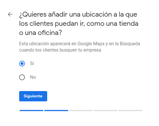 Crear ficha de Google My Business